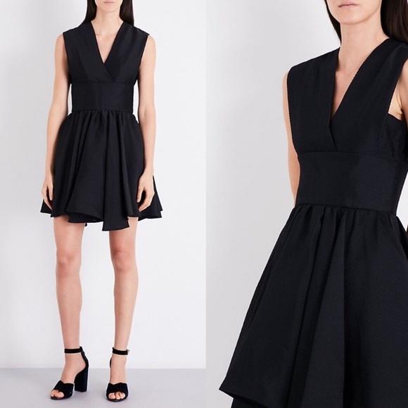Maje Dresses & Skirts - Maje Revely Black Banded Organza Mini Dress